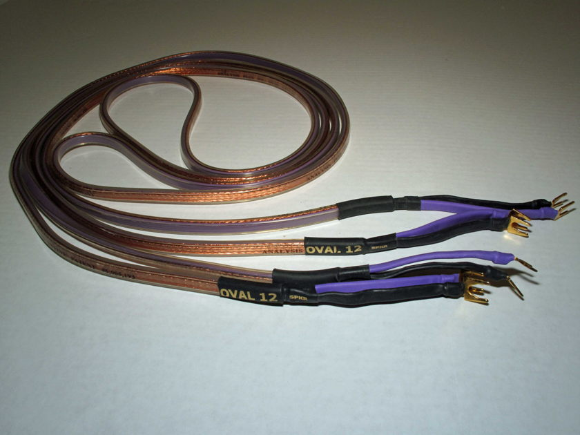 Analysis Plus Oval 12 Speaker Cables 8 ft Pair