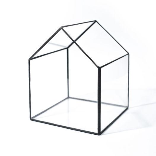 """Форма из стекла """"Дом с открытой крышей"""""""
