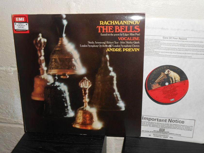 RACHMANINOV EMI UK - THE BELLS  TAS LIST ASD 3284 ANDRE PREVIN CONDUCTOR