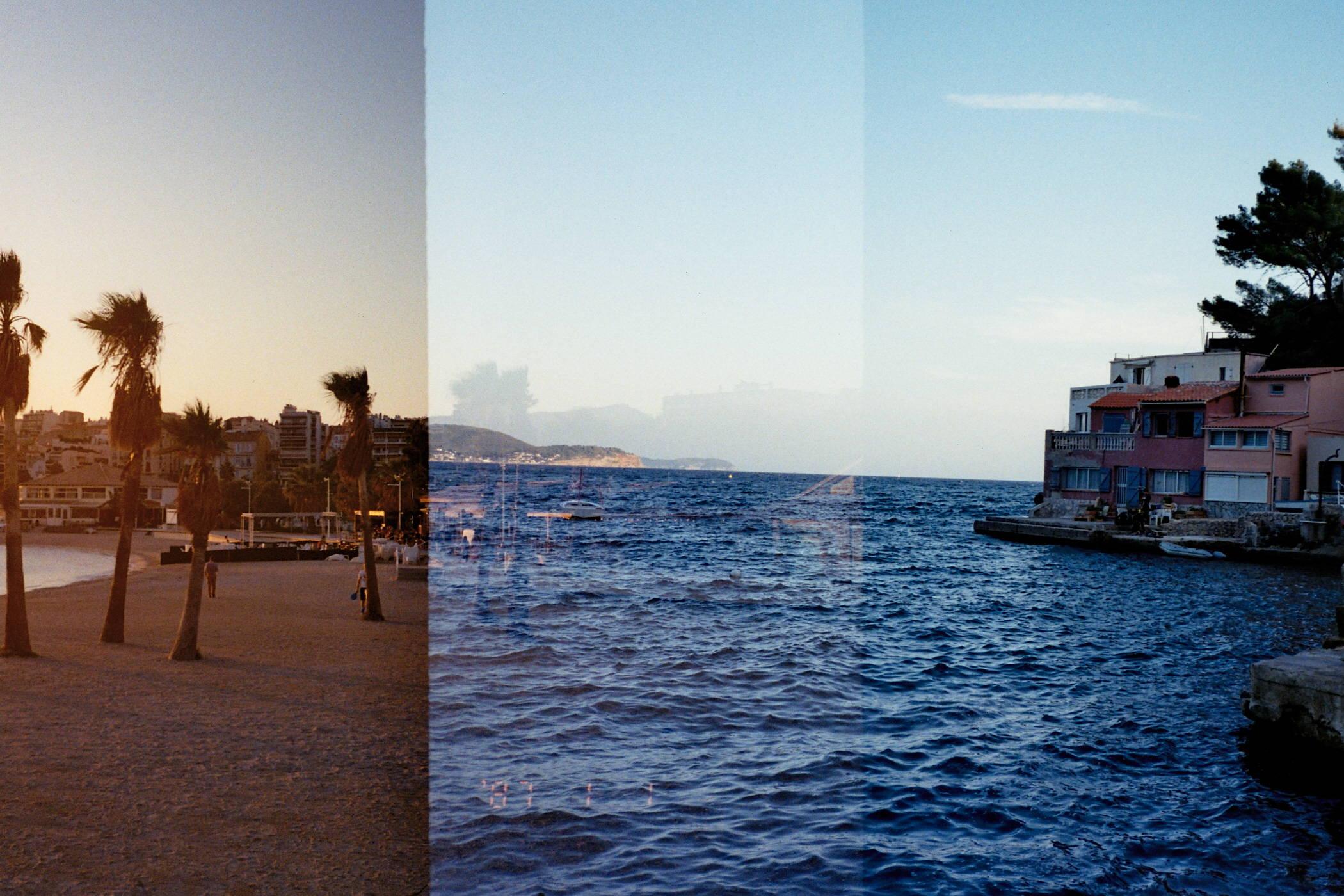 Photo double exposure Mourillon Port Mejean