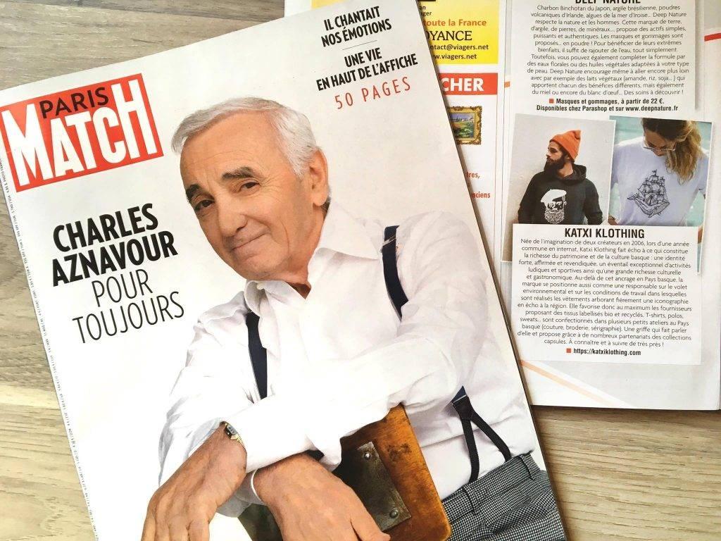 KATXI KLOTHING marque vêtements basque article magazine PARIS MATCH