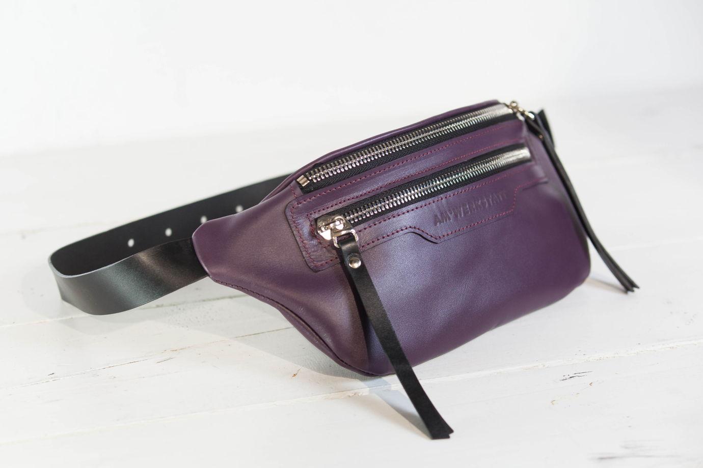 Сумка на пояс W3 фиолетовая