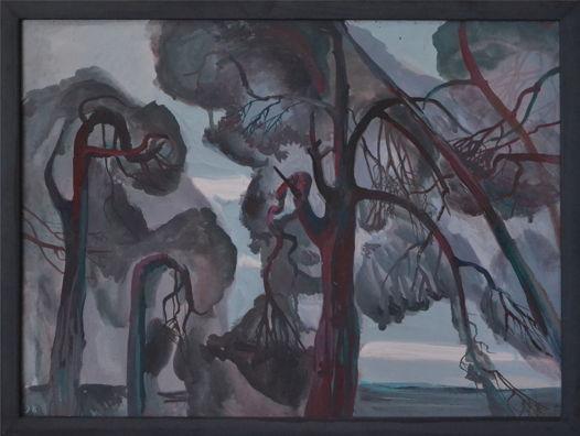 "Картина ""Сосны на морском берегу"""