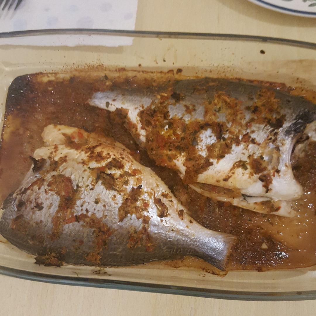 Sea Bass with thai spice.