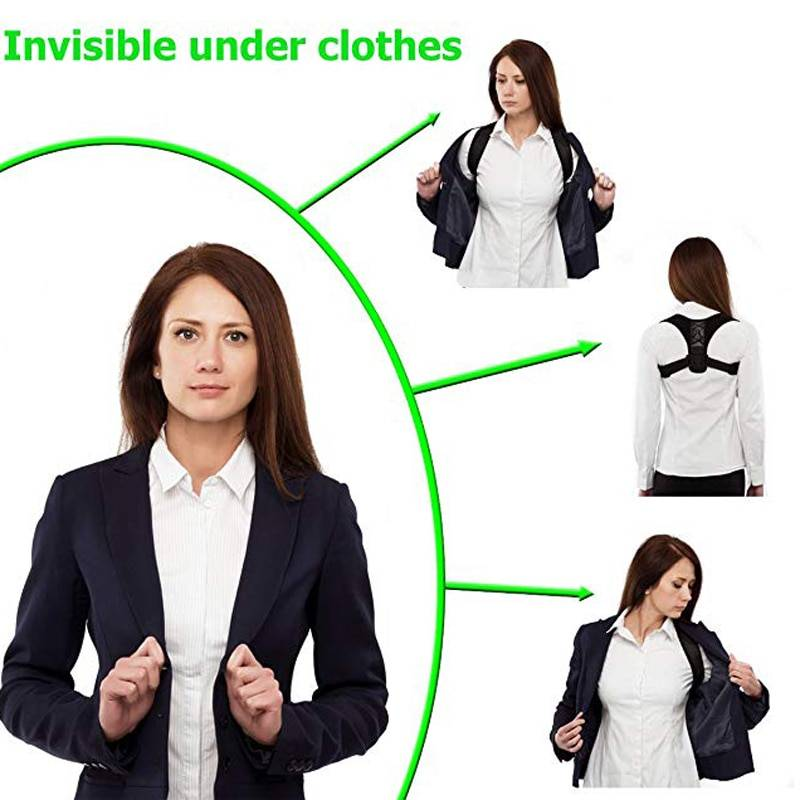 undetectable posture corrector under clothes