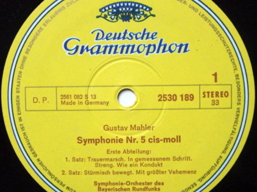 DG / KUBELIK-FISCHER-DIESKAU, - Mahler Symphony No.5, NM, 2 LP Set!