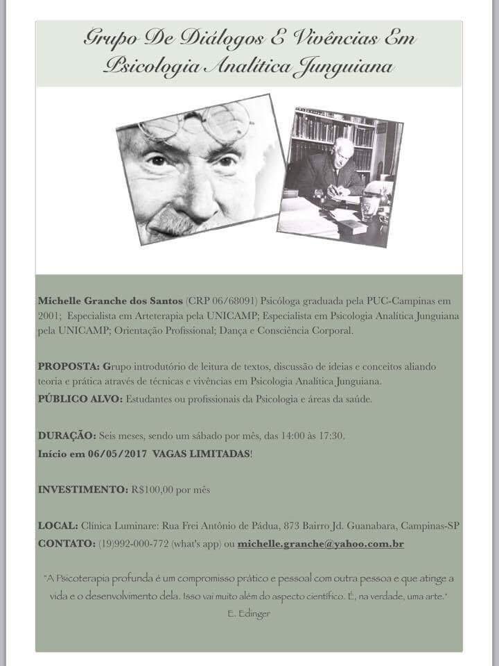 Grupo de diálogos e vivências em Psicologia Analítica Junguiana