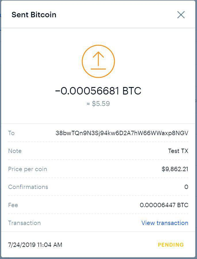 Some Known Details About Cancel Coinbase Transaction