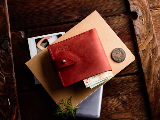 Кожаный кошелек с отделением для мелочи -ROCKY RIDGE- цвет Cognac