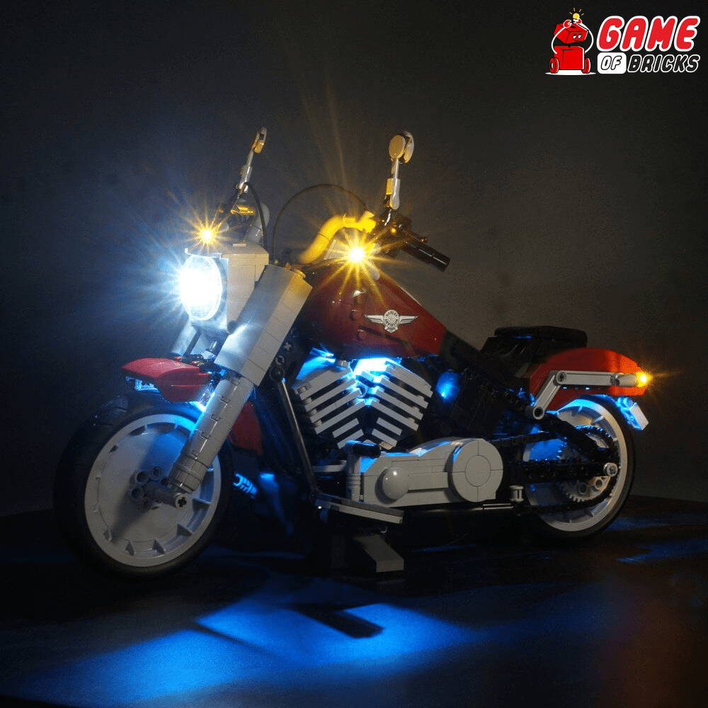 lego harley davidson 10269 led light