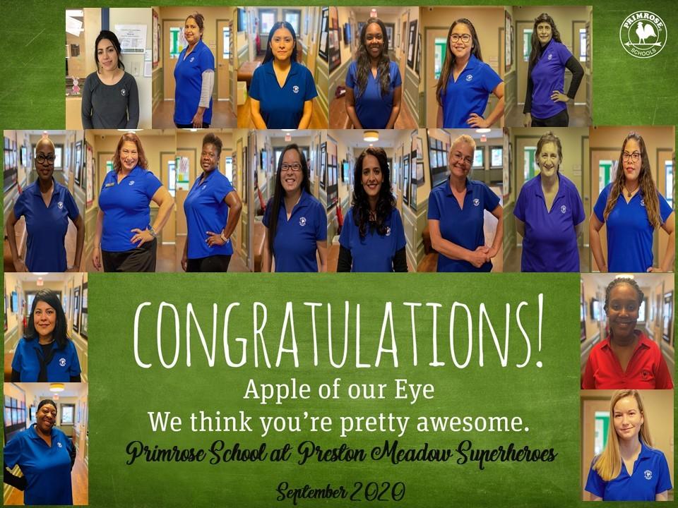 apple of our eye preston meadow teachers red blue green black grey primrose schools dedicated staff