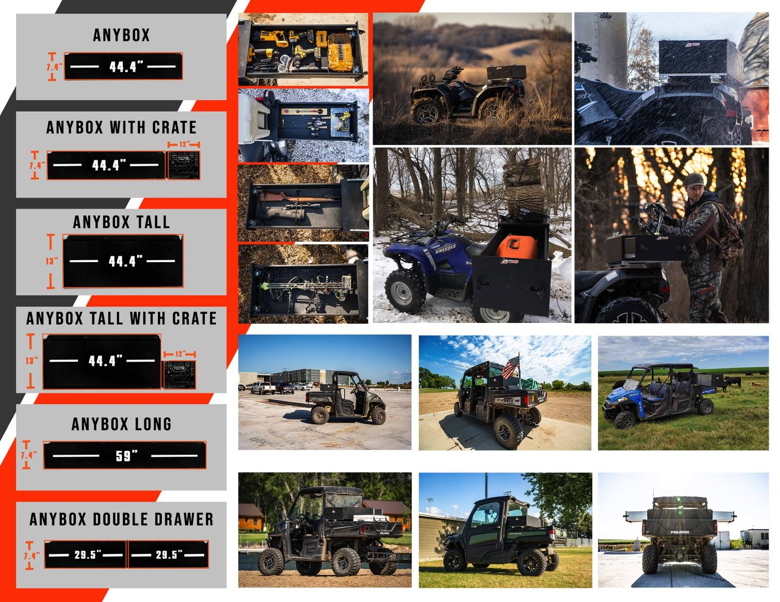 ATV and UTV Storage Solutions - AnyBox from AnyGlide