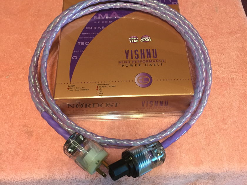 Nordost Vishnu power cord 2m 30-day warranty
