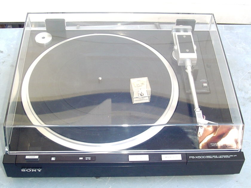Sony PS-X500 BIOTRACER Turntable W/Stanton 881S Cartridge & NOS  D81 Stylus Excellent Condition