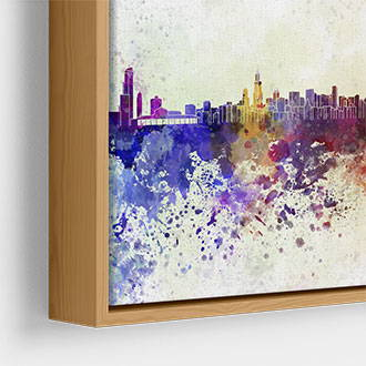 Narrow wood canvas floater frame