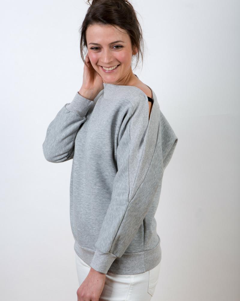 Luxe asymmetrische sweater GLDN