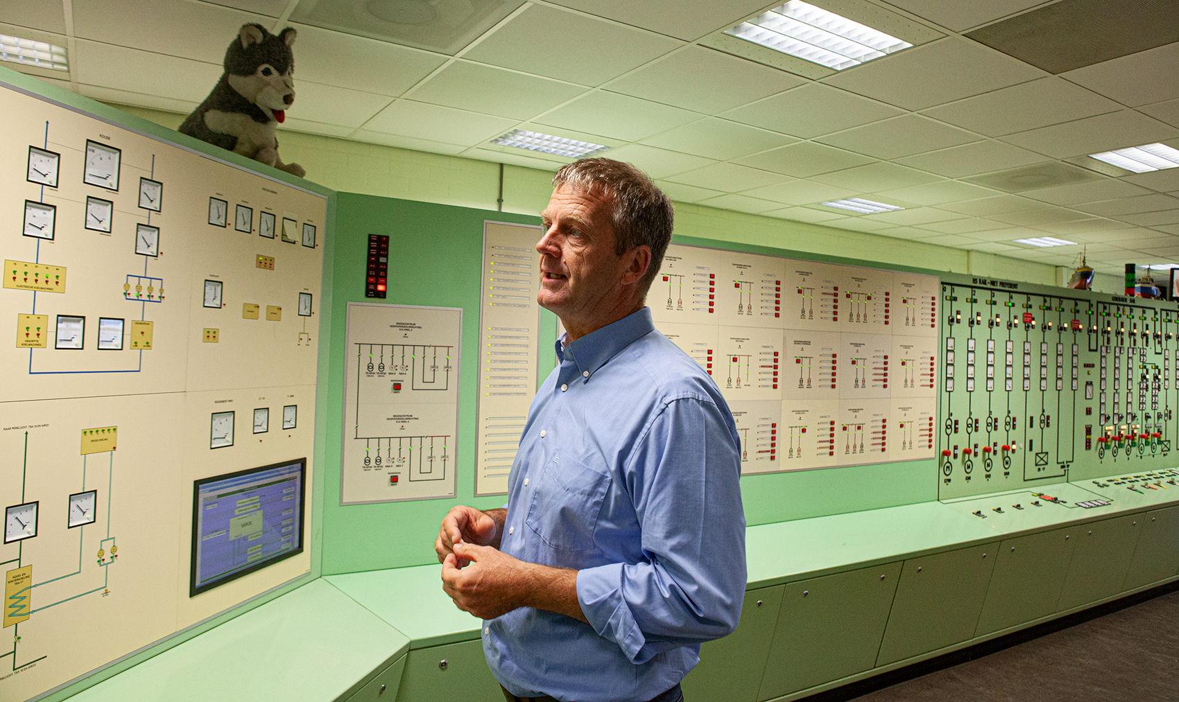 De 'controlroom' van de energiecentrale van het UMC Utrecht.