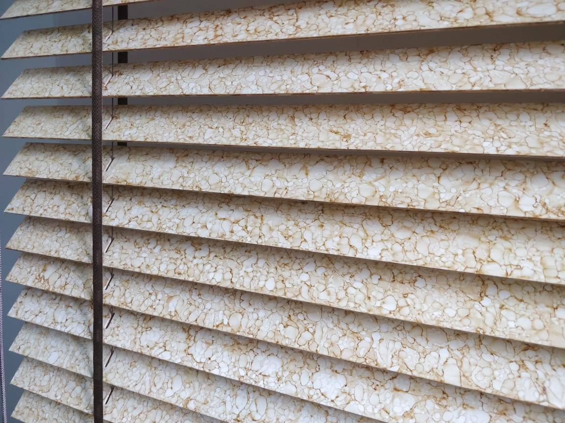 Stone Look Timber Venetian Blinds