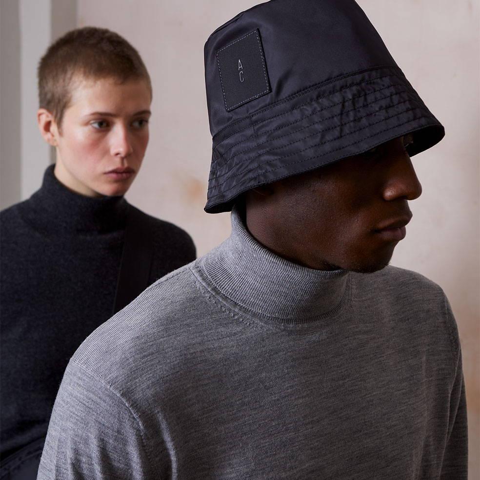 Ally Capellino Bik Nylon Hat in Black