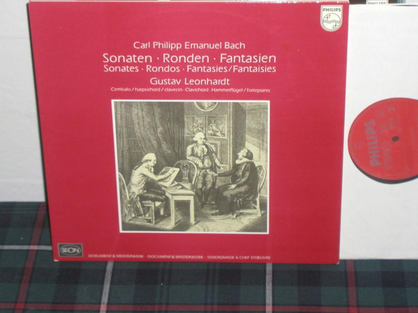 Leonhardt - C.P.E.Bach Sonatas/Rondos Philips Import Pressing 6500
