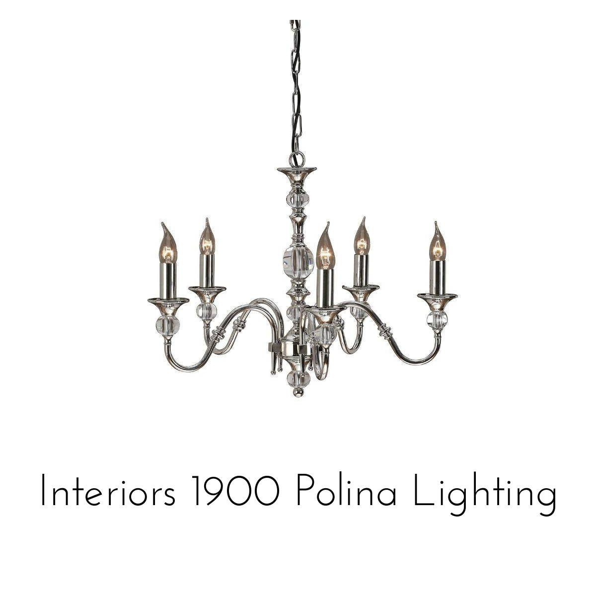 interiors 1900 polina lighting collection