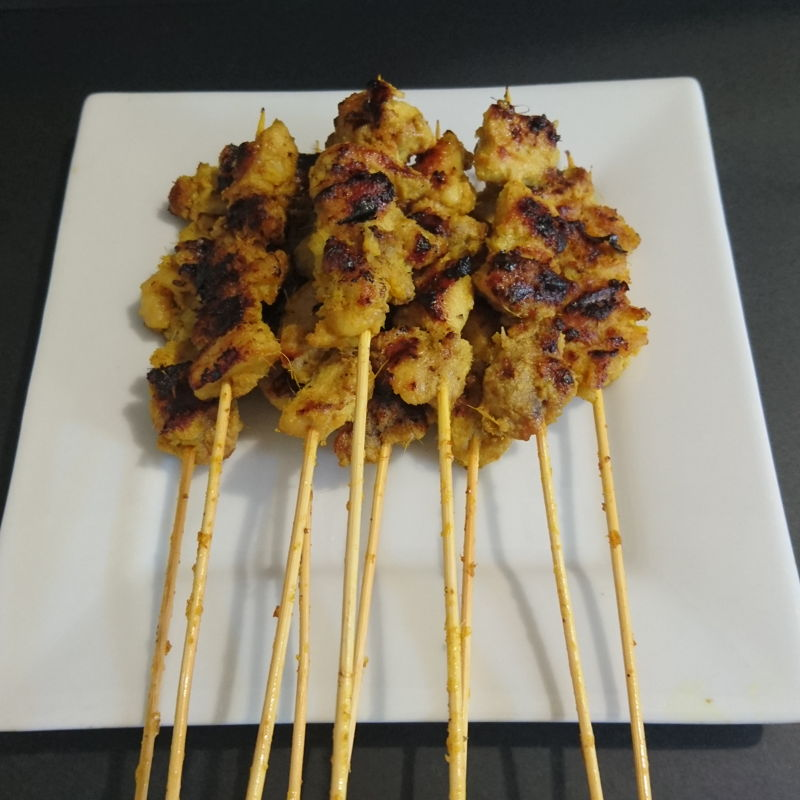 Date: 12 Dec 2019 (Thu) 44th Main: Satay Ayam (Chicken Meat Skewers) [141] [128.7%] [Score: 8.7]