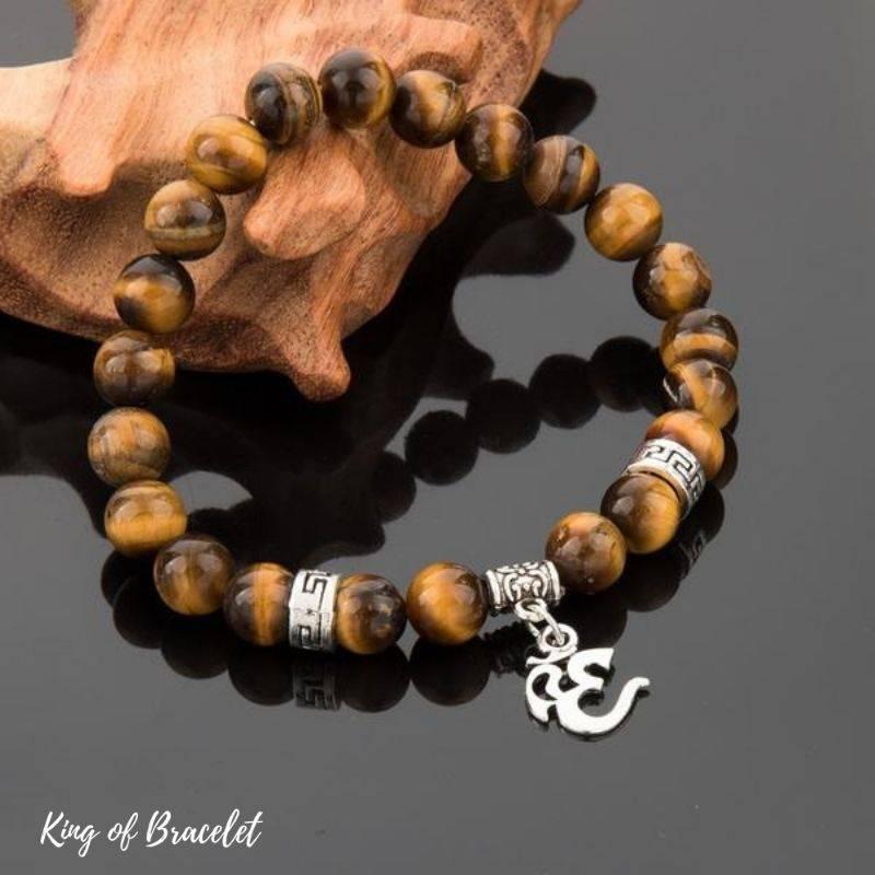 Bracelet AUM en Perles Oeil de Tigre - King of Bracelet