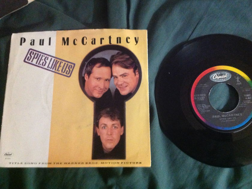 Paul McCartney - Spies Like Us 45 With Sleeve NM Capitol Label