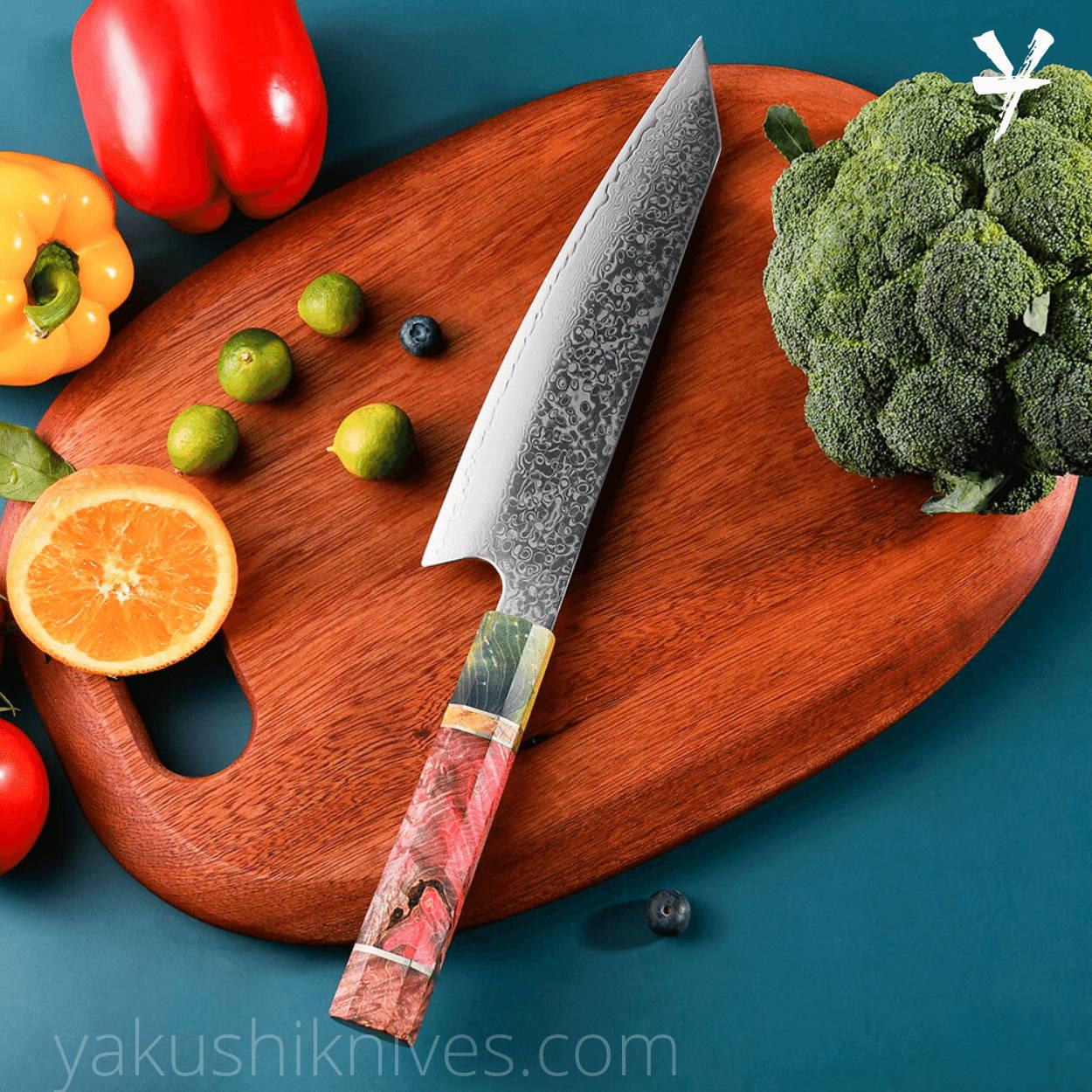Japanese Chef Knife, Damascus Steel Knives, Damascus Chef Knife, 8inch Kitche Damascus Knife