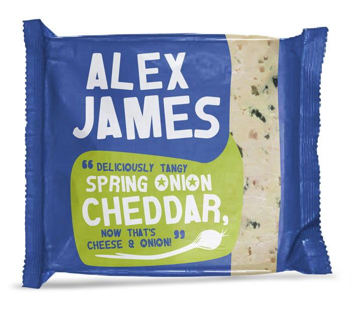 Alex James Cheese Packaging Design Dzinemafia Spring Onion