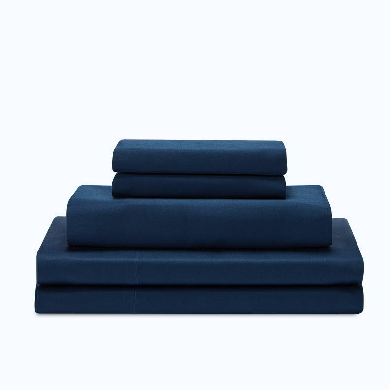 sleep zone bedding website store products collections cottonnest pure cotton sheet set navy blue