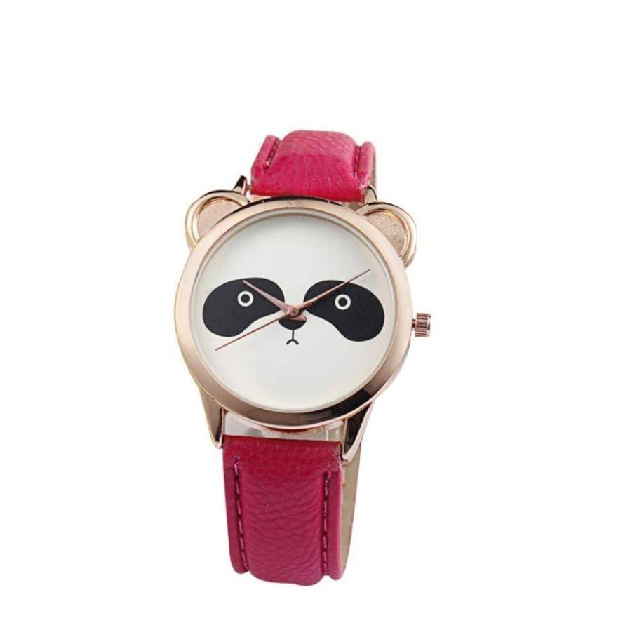 montre panda elegant rouge