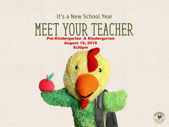 Primrose Harmony Pre-Kindergarten and Kindergarten Meet the Teacher
