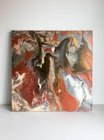 """Абстрактная картина """"Inferno"""" 60х60"""