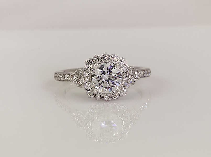 custom engagement ring design henne jewelers pittsburgh