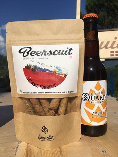 biscuit apéro recyclé bière et multi graines