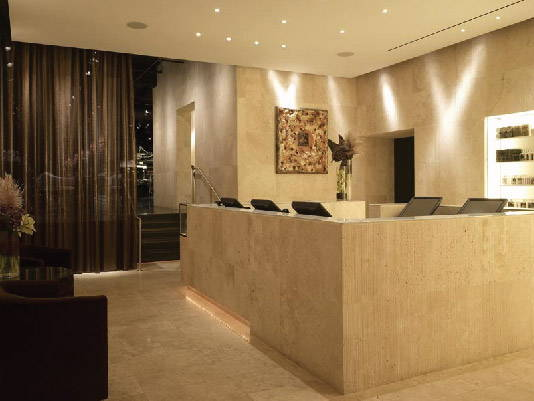 Check in desk at The Plaza Hotel location for Warren Tricomi