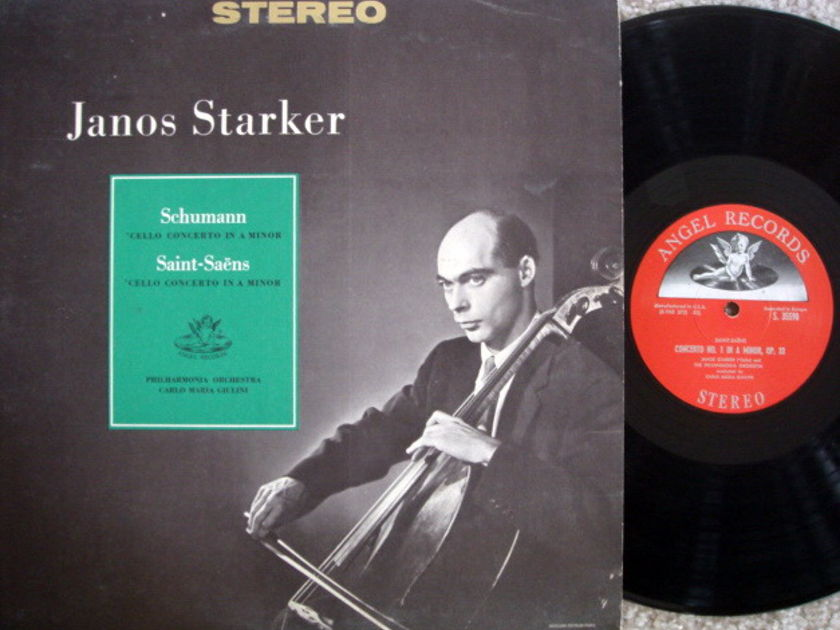 EMI Angel Semi-Circle / JANOS STARKER, - Schumann-Saint-Saens Cello Concertos NM!