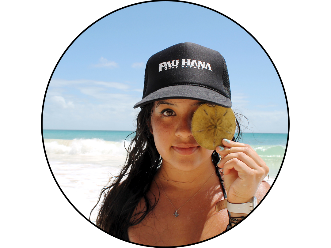 Pau Hana Surf Supply Team Rider Moon Mist Board Ginger Caranto