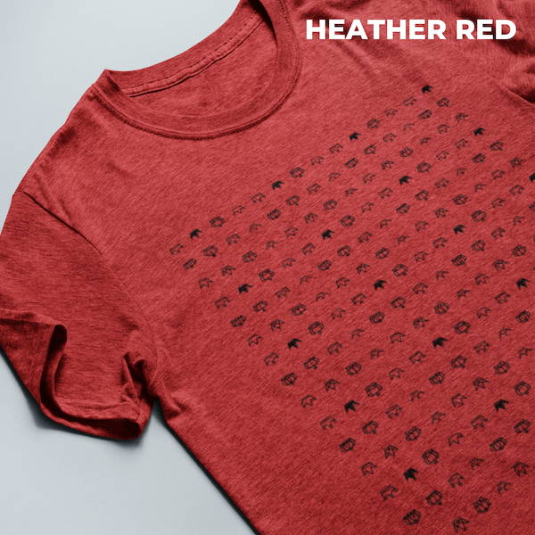 Christian T-Shirt Upside Down Heather Red