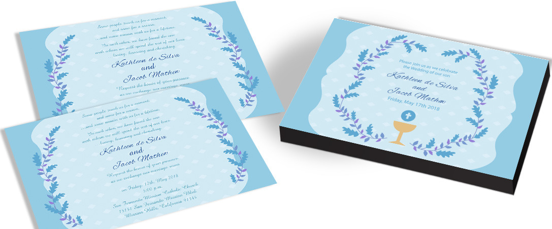 Watercolor Flower Christian Marriage Invitation