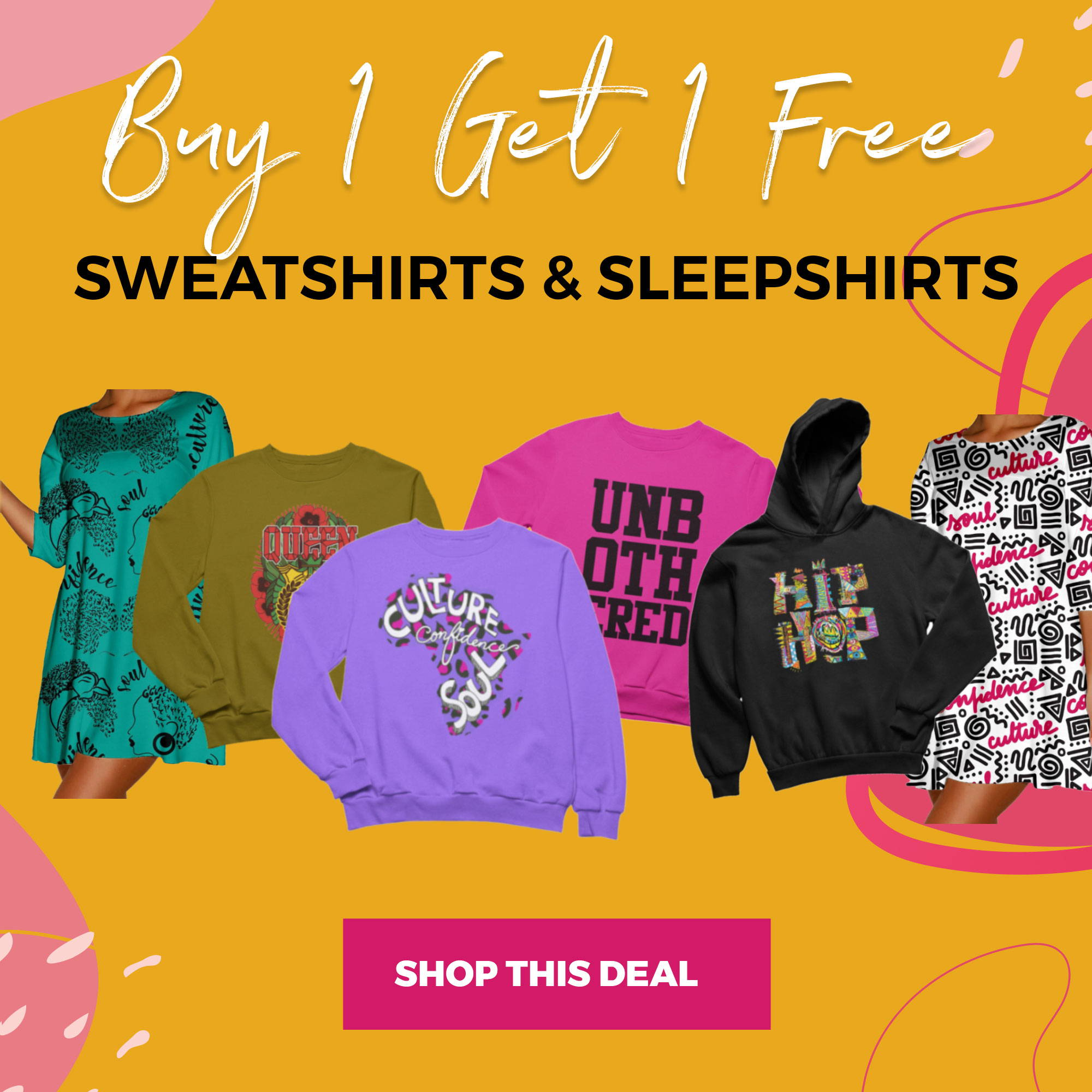 Buy 1 Get 1 Free Select Items!