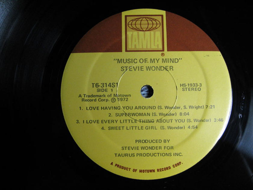 Stevie Wonder - Music Of My Mind - 1972 Tamla T6-314S1