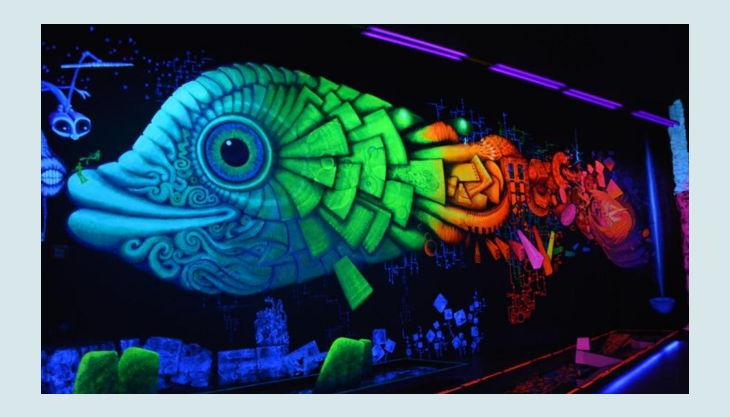 bg pit pat wonderland d minigolf neon fisch