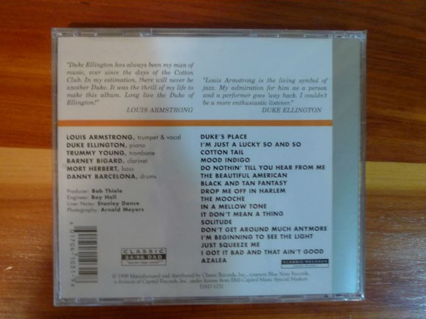 Duke Ellington/Louis Armstrong - Sessions 24/96 DVD-A Classic Records 24/96 DVD-A