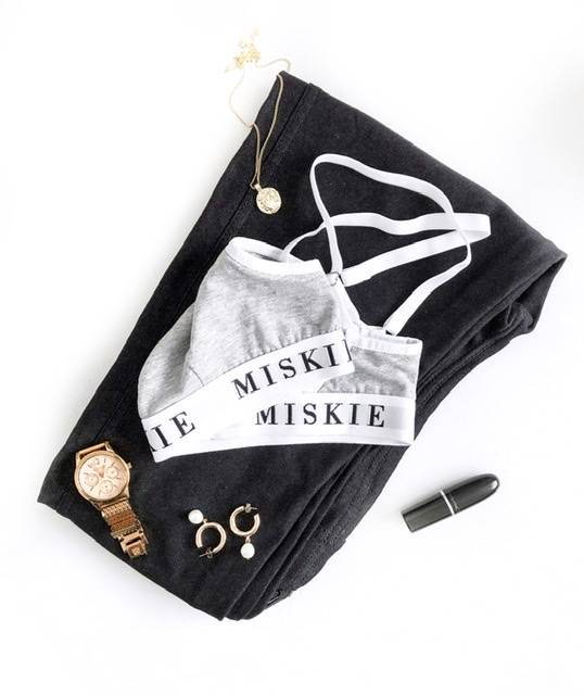 Miskie London grey bra outfit