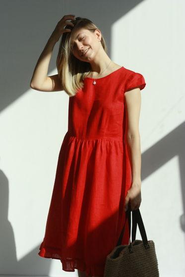 Платье красное |Первая Линия|