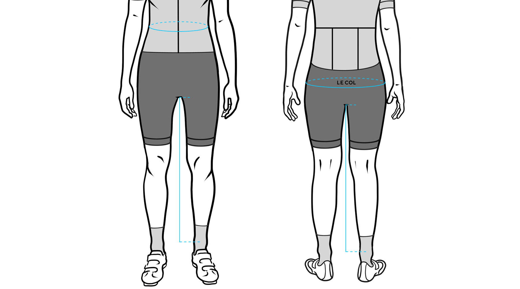 15d6f73b2 The Le Col bib shorts and winter tights are made from high quality stretchy  fabric and should be tight fitting. The sizing is dependent on your waist  size.