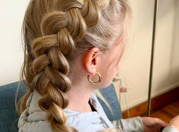 french braid pigtails overnight hair how to davines