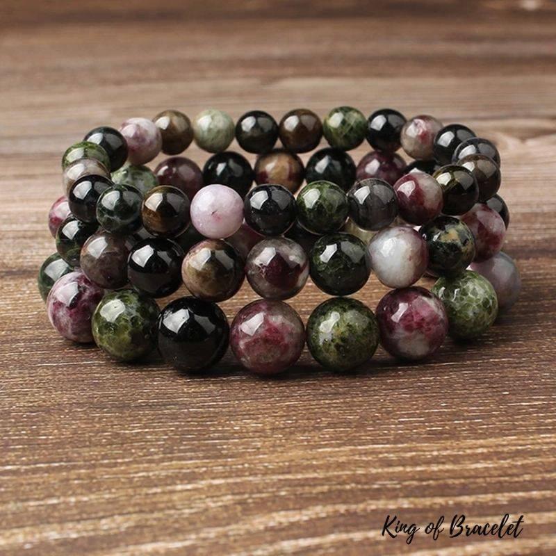 Bracelet en Perles de Tourmaline Multicolore - King of Bracelet